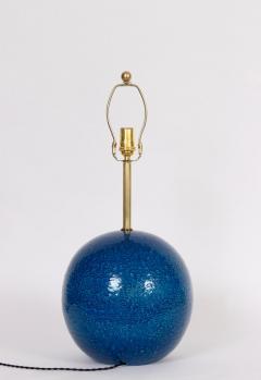 Aldo Londi Aldo Londi for Bitossi Persian Blue Ball Table Lamp circa 1950s - 1583182