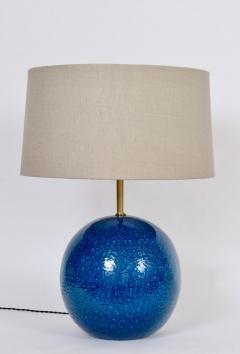 Aldo Londi Aldo Londi for Bitossi Persian Blue Ball Table Lamp circa 1950s - 1583188