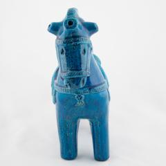 Aldo Londi Rimini Blu ceramic horse by Aldo Londi for Bitossi circa 1960s - 758829