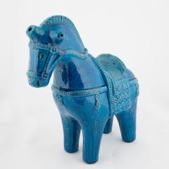 Aldo Londi Rimini Blu ceramic horse by Aldo Londi for Bitossi circa 1960s - 758838