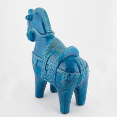 Aldo Londi Rimini Blu ceramic horse by Aldo Londi for Bitossi circa 1960s - 758840