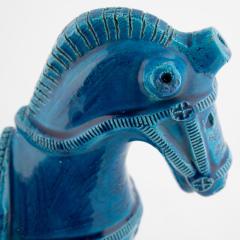 Aldo Londi Rimini Blu ceramic horse by Aldo Londi for Bitossi circa 1960s - 758847
