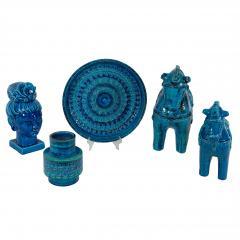 Aldo Londi Rimini Blu ceramic platter by Aldo Londi for Bitossi circa 1960s - 758787