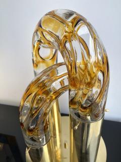 Aldo Nason Brass and Murano Glass Lamp by Aldo Nason for Mazzega Italy 1970s - 1930499