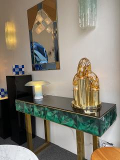 Aldo Nason Brass and Murano Glass Lamp by Aldo Nason for Mazzega Italy 1970s - 1930505