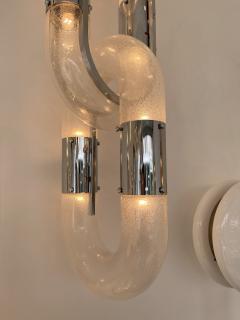 Aldo Nason Chandelier Chain Murano Glass Metal by Aldo Nason for Mazzega Italy 1970s - 2060812