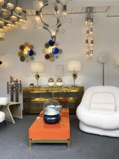 Aldo Nason Chandelier Chain Murano Glass Metal by Aldo Nason for Mazzega Italy 1970s - 2060817