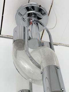 Aldo Nason Chandelier Chain Murano Glass Metal by Aldo Nason for Mazzega Italy 1970s - 2060819