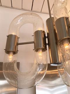 Aldo Nason Chandelier Murano Glass and Metal by Aldo Nason for Mazzega Italy 1970s - 1486654
