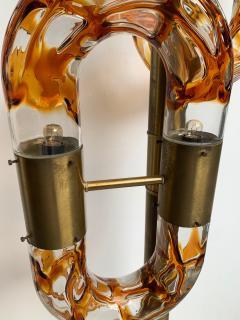 Aldo Nason Floor Lamp Brass Murano Glass by Aldo Nason for Mazzega Italy 1970s - 1202876