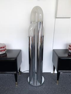 Aldo Nason Floor Lamp Chrome Metal Murano Glass by Aldo Nason for Mazzega Italy 1970s - 972562