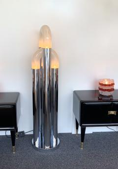 Aldo Nason Floor Lamp Chrome Metal Murano Glass by Aldo Nason for Mazzega Italy 1970s - 972574