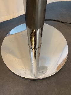 Aldo Nason Floor Lamp Metal Chrome Murano Glass by Aldo Nason for Mazzega Italy 1970s - 1048044
