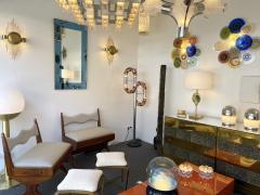 Aldo Nason Floor Lamp Metal Chrome Murano Glass by Aldo Nason for Mazzega Italy 1970s - 2041597
