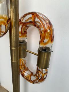 Aldo Nason Floor Lamps Brass Murano Glass by Aldo Nason for Mazzega Italy 1970s - 1313827