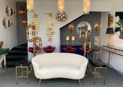 Aldo Nason Floor Lamps Brass Murano Glass by Aldo Nason for Mazzega Italy 1970s - 1313833
