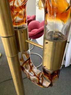 Aldo Nason Floor Lamps Brass Murano Glass by Aldo Nason for Mazzega Italy 1970s - 1313834