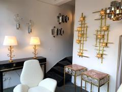 Aldo Nason Pair of Sconces Glass Metal by Aldo Nason for Mazzega Murano Italy 1970s - 1191346