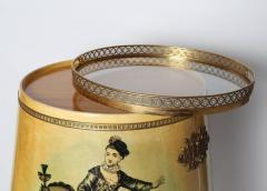 Aldo Tura 1950s Goblet Shaped Goatskin Clad Bar Cabinet by Aldo Tura - 507969