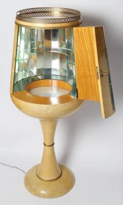 Aldo Tura 1950s Goblet Shaped Goatskin Clad Bar Cabinet by Aldo Tura - 507970