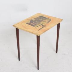 Aldo Tura ALDO TURA Side Table Goat Skin Mahogany Fornasetti Renaissance Art ITALY 1950s - 1553686