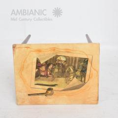 Aldo Tura ALDO TURA Side Table Goat Skin Mahogany Fornasetti Renaissance Art ITALY 1950s - 1553687