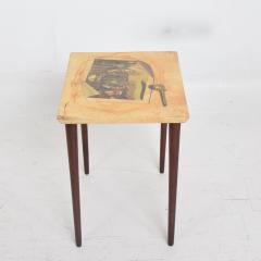 Aldo Tura ALDO TURA Side Table Goat Skin Mahogany Fornasetti Renaissance Art ITALY 1950s - 1553688