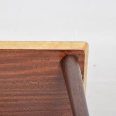 Aldo Tura ALDO TURA Side Table Goat Skin Mahogany Fornasetti Renaissance Art ITALY 1950s - 1553690