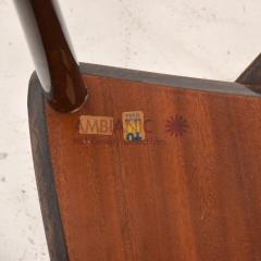 Aldo Tura Aldo TURA Nesting Tables Lacquered Brown Goatskin Italian Mahogany MILAN 1960s - 1542841
