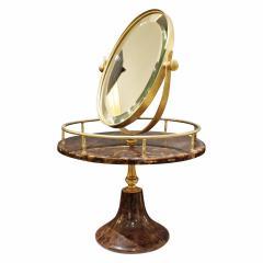 Aldo Tura Aldo Tura Adjustable Vanity Mirror in Lacquered Goatskin 1970s - 1039571