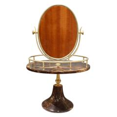 Aldo Tura Aldo Tura Adjustable Vanity Mirror in Lacquered Goatskin 1970s - 1039573
