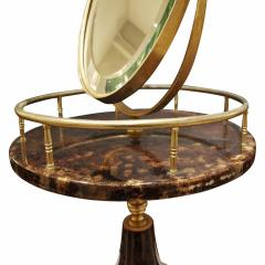 Aldo Tura Aldo Tura Adjustable Vanity Mirror in Lacquered Goatskin 1970s - 1039575