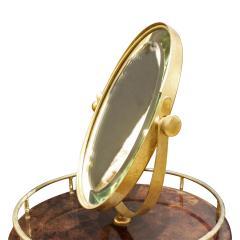 Aldo Tura Aldo Tura Adjustable Vanity Mirror in Lacquered Goatskin 1970s - 1039580