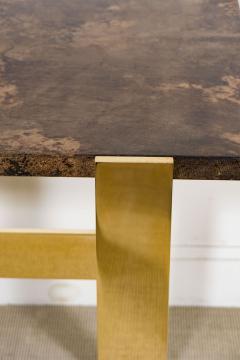 Aldo Tura Aldo Tura Console Table with Contemporary Mirror Polished Bronze Base - 448055