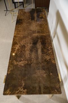 Aldo Tura Aldo Tura Console Table with Contemporary Mirror Polished Bronze Base - 448056