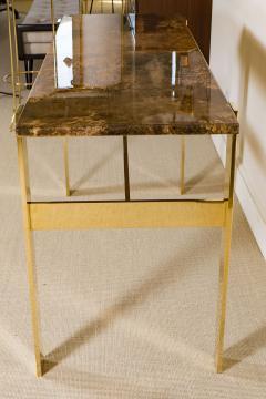 Aldo Tura Aldo Tura Console Table with Contemporary Mirror Polished Bronze Base - 448057