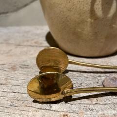 Aldo Tura Aldo Tura Golden Goatskin Leather Brass Ice Bucket Tongs ITALY 1950s Milano - 2087145