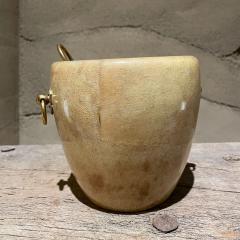 Aldo Tura Aldo Tura Golden Goatskin Leather Brass Ice Bucket Tongs ITALY 1950s Milano - 2087146