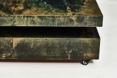 Aldo Tura Aldo Tura Green Goat Skin Lacquered Coffee Table - 1881544