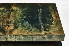 Aldo Tura Aldo Tura Green Goat Skin Lacquered Coffee Table - 1881545