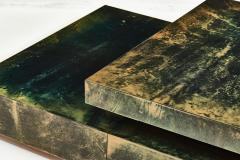 Aldo Tura Aldo Tura Green Goat Skin Lacquered Coffee Table - 1881548