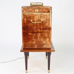 Aldo Tura Aldo Tura Illuminated Bar In Lacquered Goatskin 1970s - 1524916