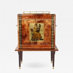 Aldo Tura Aldo Tura Illuminated Bar In Lacquered Goatskin 1970s - 1525183