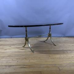 Aldo Tura Aldo Tura Lacquered Goatskin and Brass Surfboard Coffee Table Italy 1960s - 1689744