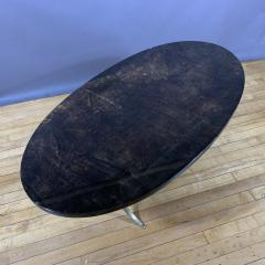 Aldo Tura Aldo Tura Lacquered Goatskin and Brass Surfboard Coffee Table Italy 1960s - 1689747