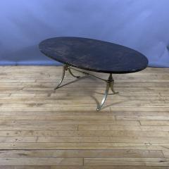 Aldo Tura Aldo Tura Lacquered Goatskin and Brass Surfboard Coffee Table Italy 1960s - 1689750