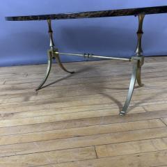 Aldo Tura Aldo Tura Lacquered Goatskin and Brass Surfboard Coffee Table Italy 1960s - 1689751