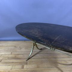 Aldo Tura Aldo Tura Lacquered Goatskin and Brass Surfboard Coffee Table Italy 1960s - 1689752