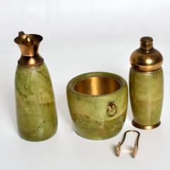 Aldo Tura Aldo Tura MACABO Bar Set Ice Bucket Carafe Shaker Goatskin Brass ITALY 1950s - 1986071