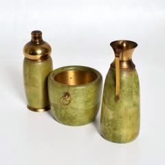 Aldo Tura Aldo Tura MACABO Bar Set Ice Bucket Carafe Shaker Goatskin Brass ITALY 1950s - 1986075